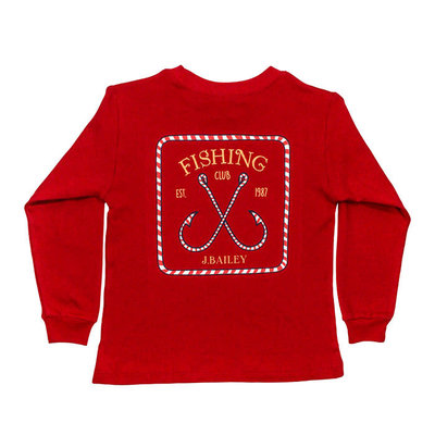 J.BAILEY LOGO TEE- CANDY CANE ON RED