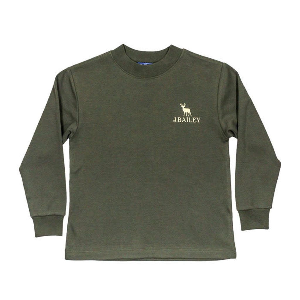 J.BAILEY LOGO TEE- DEER ON SAGE