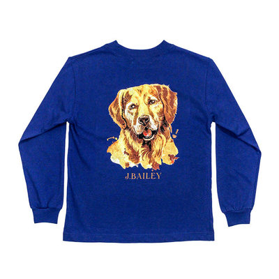 J.BAILEY LOGO TEE- RETRIEVER ON ROYAL