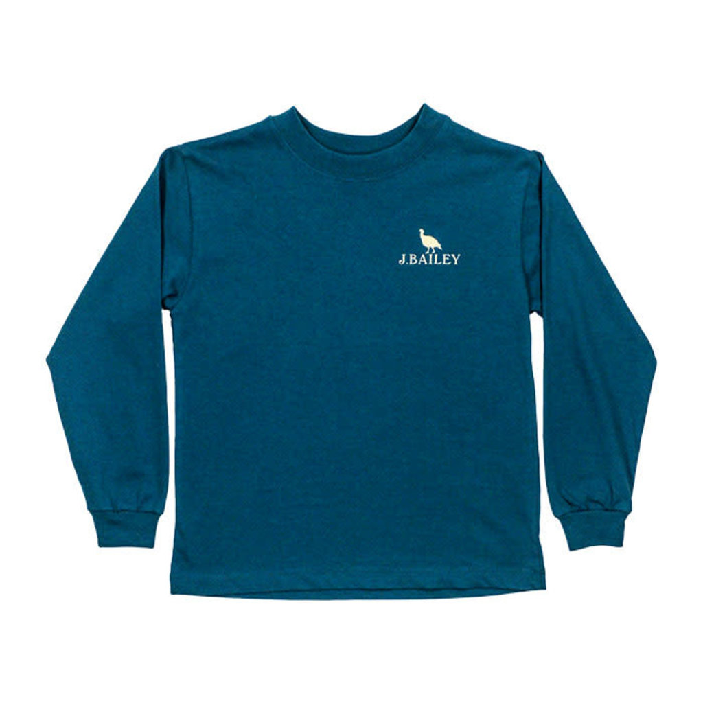 J.BAILEY LOGO TEE- TURKEY ON TEAL
