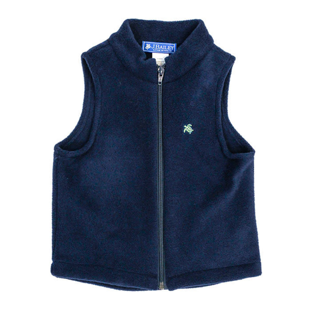 J.BAILEY MILLS FLEECE VEST- NAVY
