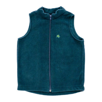 J.BAILEY MILLS FLEECE VEST- HUNTER