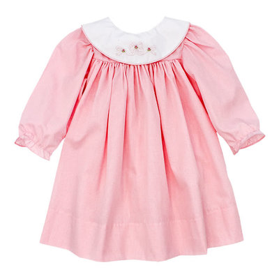 BAILEY BOYS BOWS ON PINK CHECK FLOAT DRESS