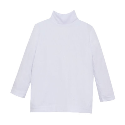 LULLABY SET UNISEX TINY TOT TURTLENECK- WHITE