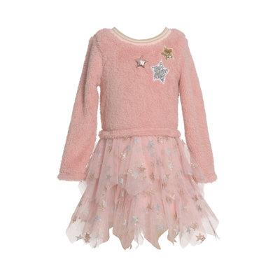 Baby Sara SHERPA DRESS W HANKY STAR MESH SKIRT