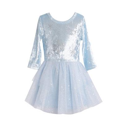 Baby Sara CRUSHED VELVET TUTU DRESS W RHINESTONE DETAIL