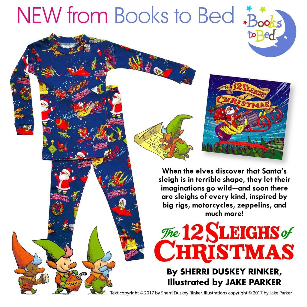 BOOKS 2 BED 12 SLEIGHS OF CHRISTMAS LS PAJAMA SET WITH BOOK