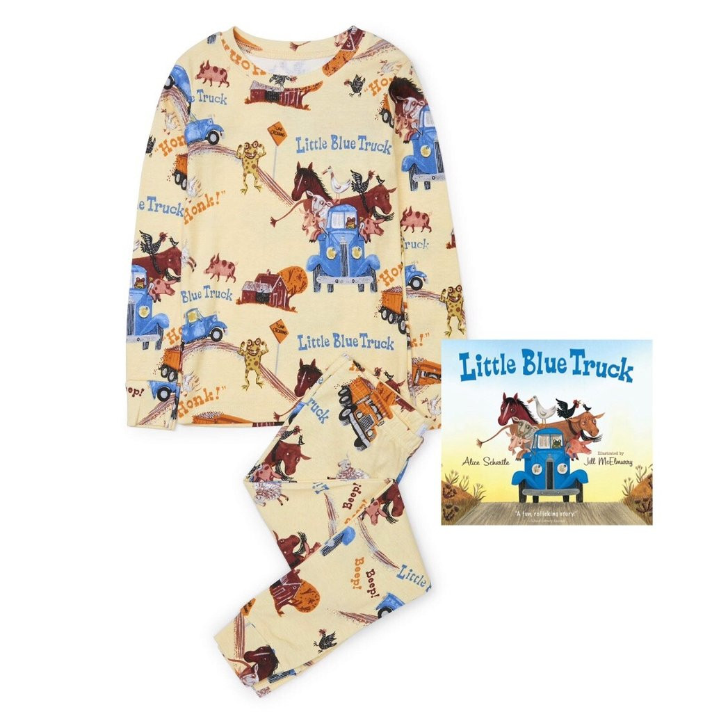 BOOKS 2 BED LITTLE BLUE TRUCK LS PAJAMA SET WITH BOOK