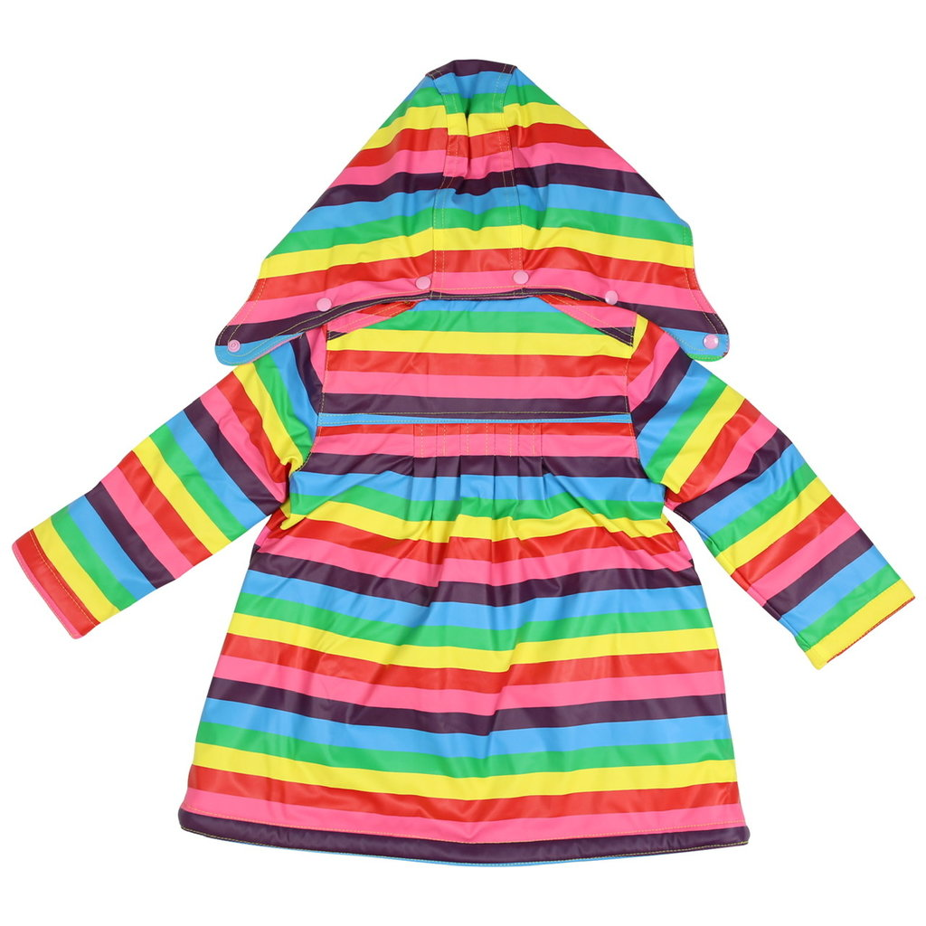 KORANGO RAINBOW STRIPE RAINCOAT