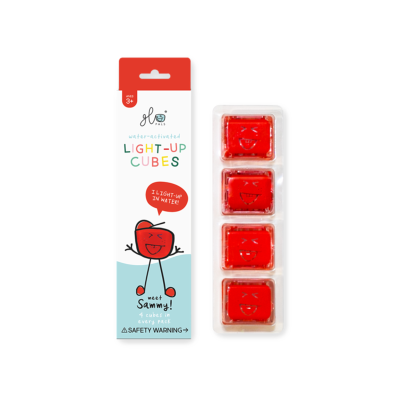 GLO GLO PALS 4PK - SAMMY (RED)
