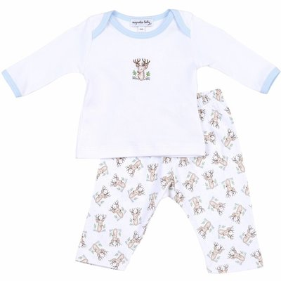 MAGNOLIA BABY VINTAGE BUCK PRINTED 2PC PANT SET