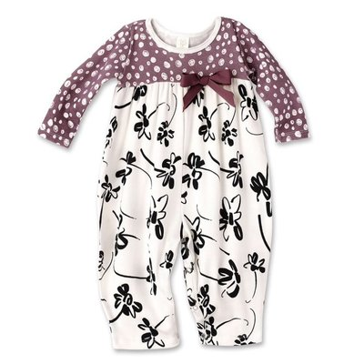 TESA BABE PAINTERLY PETALS BUBBLE ROMPER