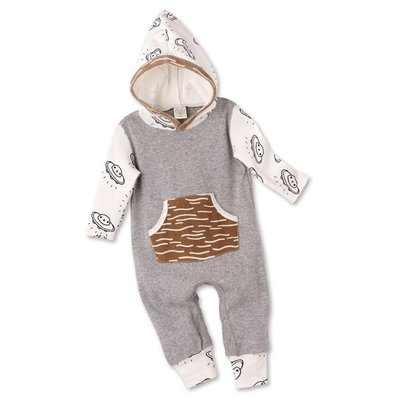 TESA BABE FLYING SAUCERS HOODED ROMPER