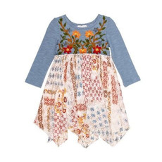 MIMI & MAGGIE LITTLE CANYON HANDKERCHIEF DRESS- MULTI