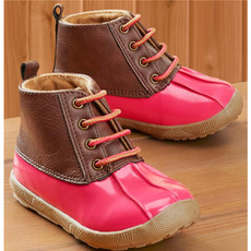 BABY DEER FUCHSIA/BROWN DUCK BOOT