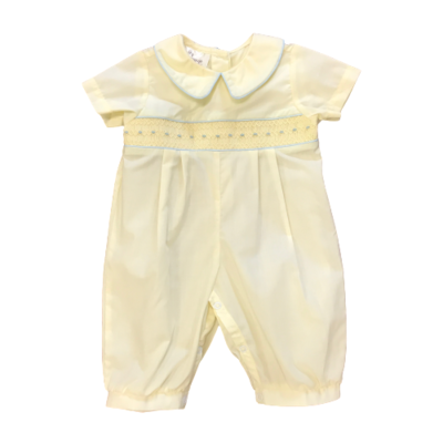 BABY BLESSINGS LIAM YELLOW ROMPER