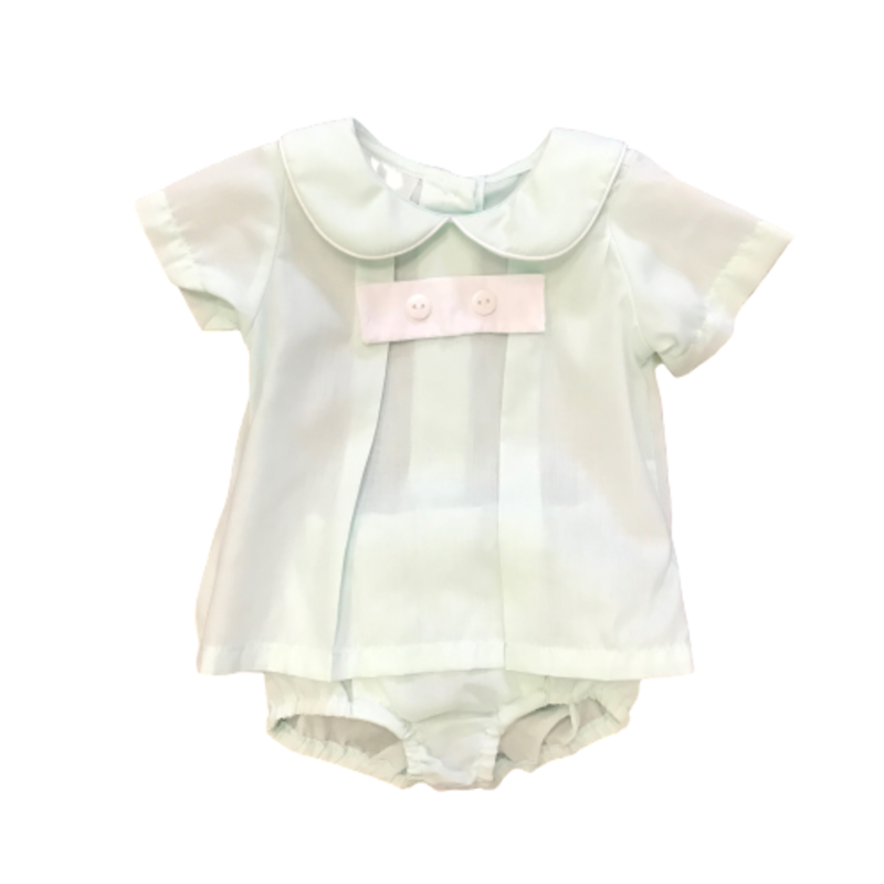 BABY BLESSINGS JAMES MINT DIAPER COVER SET
