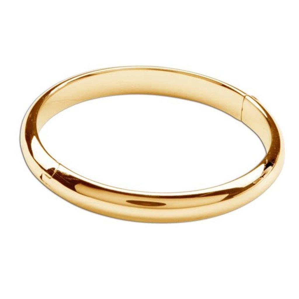 CHERISHED MOMENTS 14K GOLD-PLATED BANGLE BRACELET