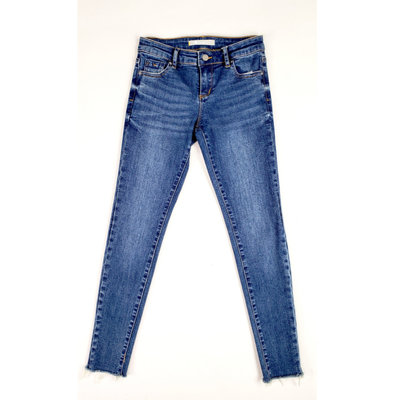 TRACTOR JEANS BASIC MID-RISE ANKLE CROP
