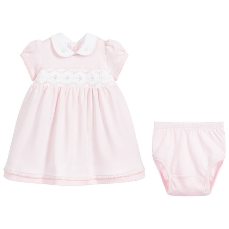 MAGNOLIA BABY CORA AND COLE'S CLASSICS SMOCKED COLLARED DRESS