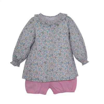 BABY SEN PINK FLOWERS ASPEN GIRL BLOOMER SET