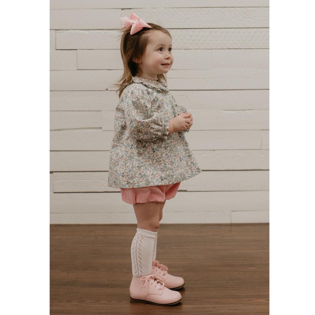 BABY SEN PINK FLOWERS ASPEN GIRL BLOOMER SET