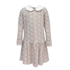 LILA AND HAYES LILLIAN LS DRESS- CHRISTMAS FLORAL