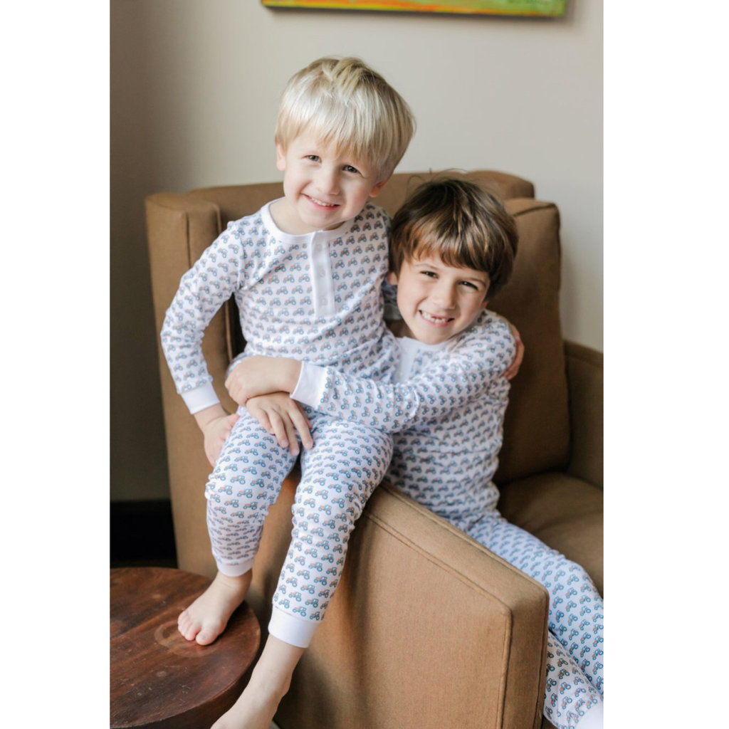 LILA AND HAYES JACK BOYS 2PC PAJAMA SET- TRACTOR