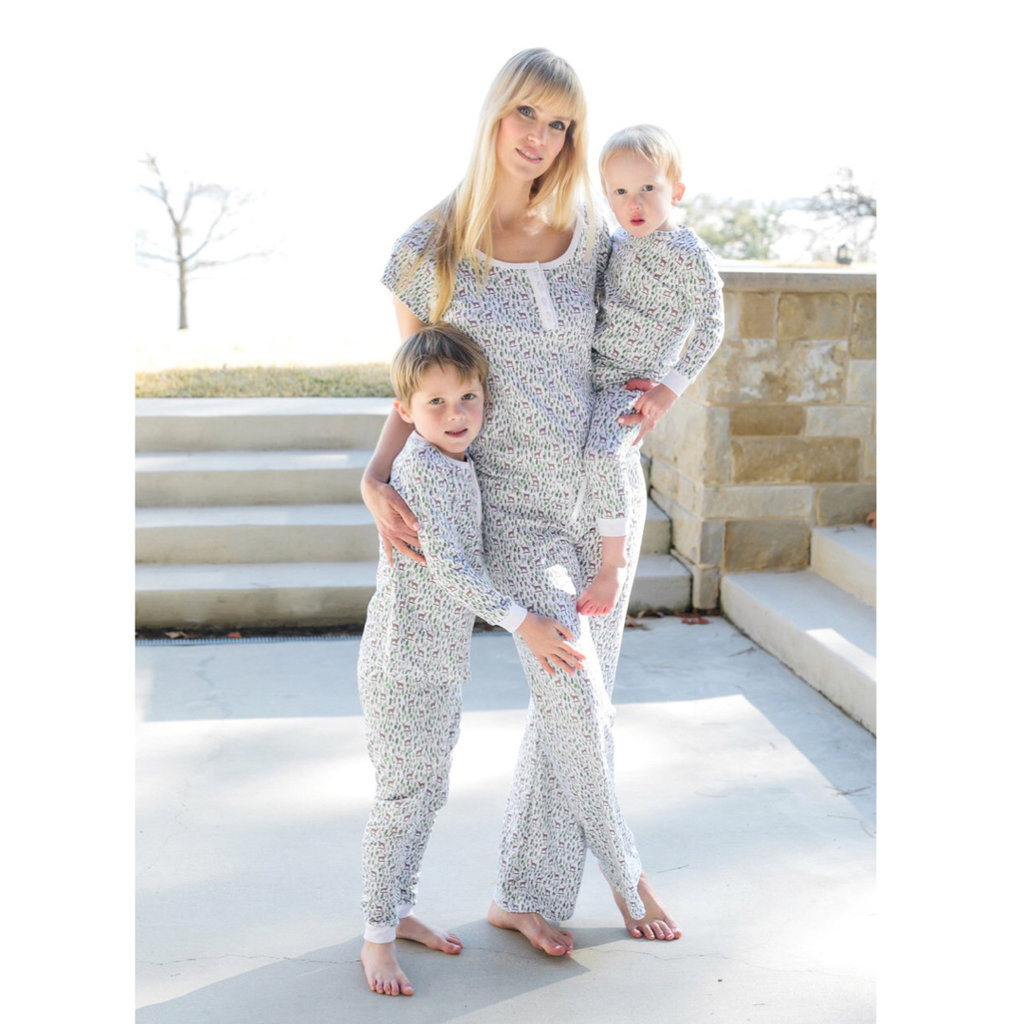 LILA AND HAYES PARKER ZIPPER PAJAMA- DEER IN THE WOODS