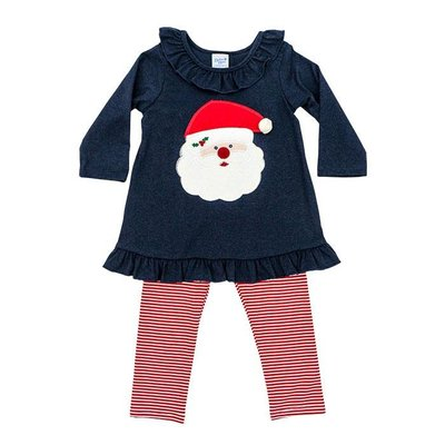 BAILEY BOYS SANTA FACE TUNIC PANT SET