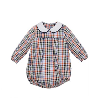 REMEMBER NGUYEN NAVY PLAID JUNIPER BOY BUBBLE
