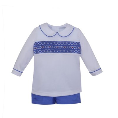REMEMBER NGUYEN BLUE SNOW SHORT SET