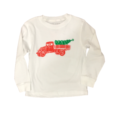MUSTARD AND KETCHUP KIDS LS CHRISTMAS TRUCK TEE
