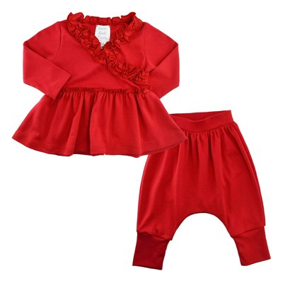 LEMON LOVES LAYETTE LIL BOHEMIAN SET- TRUE RED