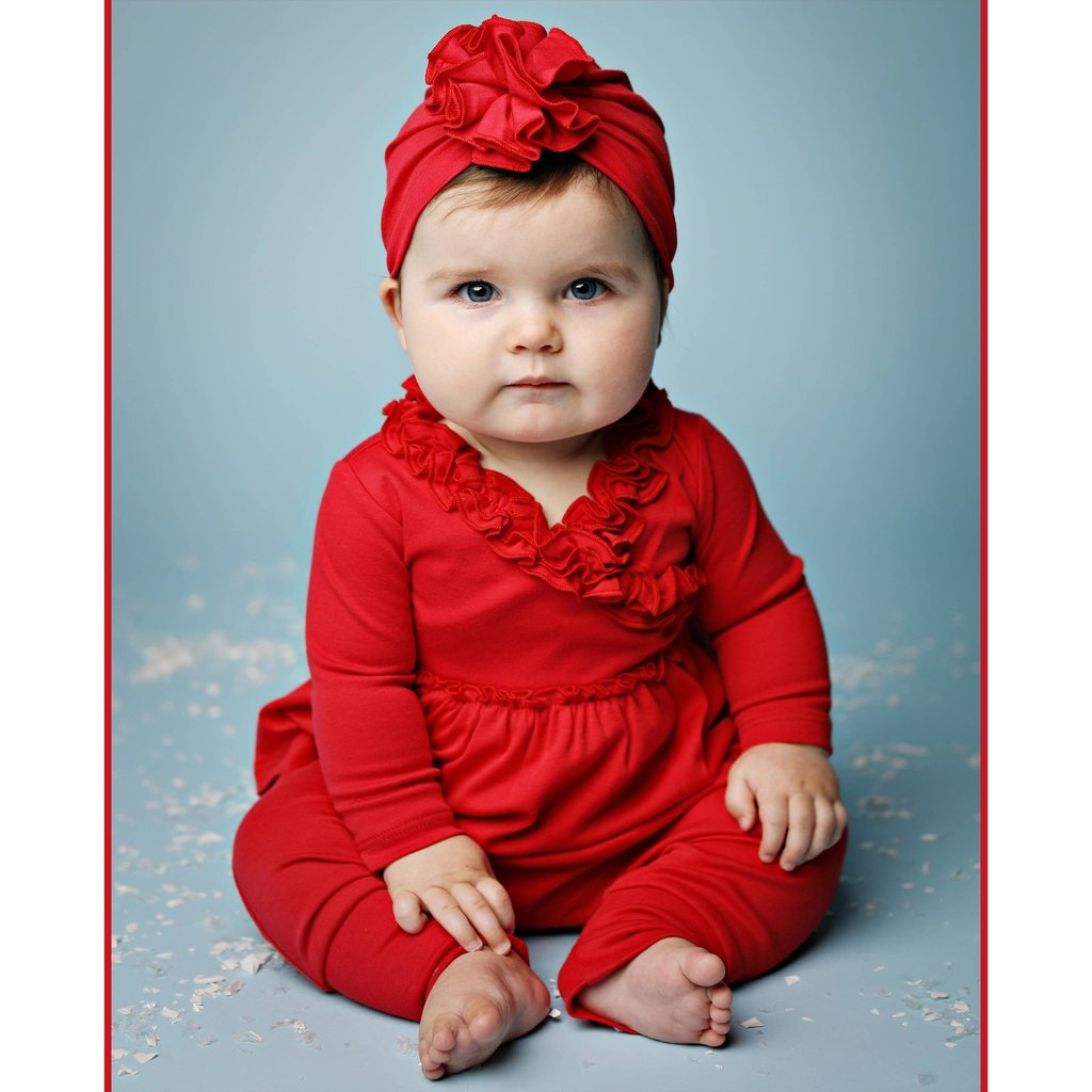 LEMON LOVES LAYETTE LIL BOHEMIAN SET- TRUE RED