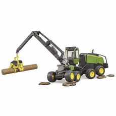 BRUDER JOHN DEERE HARVESTER 1270 G WITH LOGS
