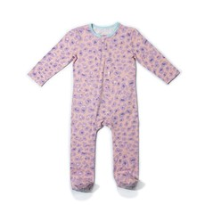 EGG NEW YORK CLASSIC ZIPPER FOOTIE- LILAC LEOPARD