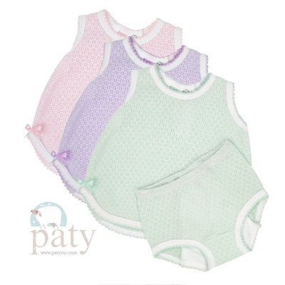 PATY NB-6 SLVLSS TOP W/BOW & BLOOMER