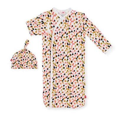 MAGNIFICENT BABY CONFETTI - MODAL MAGNETIC GOWN & HAT SET