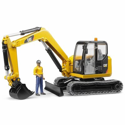 BRUDER CAT MINI EXCAVATOR W/WORKER