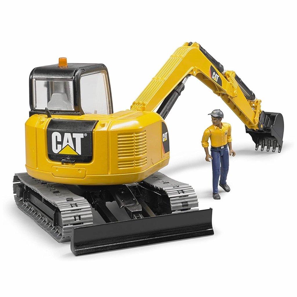 BRUDER CAT MINI EXCAVATOR W/WORKER