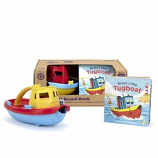 GREEN TOYS TUG BOAT AND BOARD BOOK