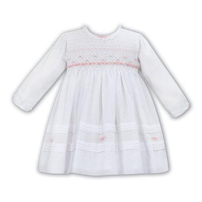 SARAH LOUISE 012053- WHITE VOILE DRESS