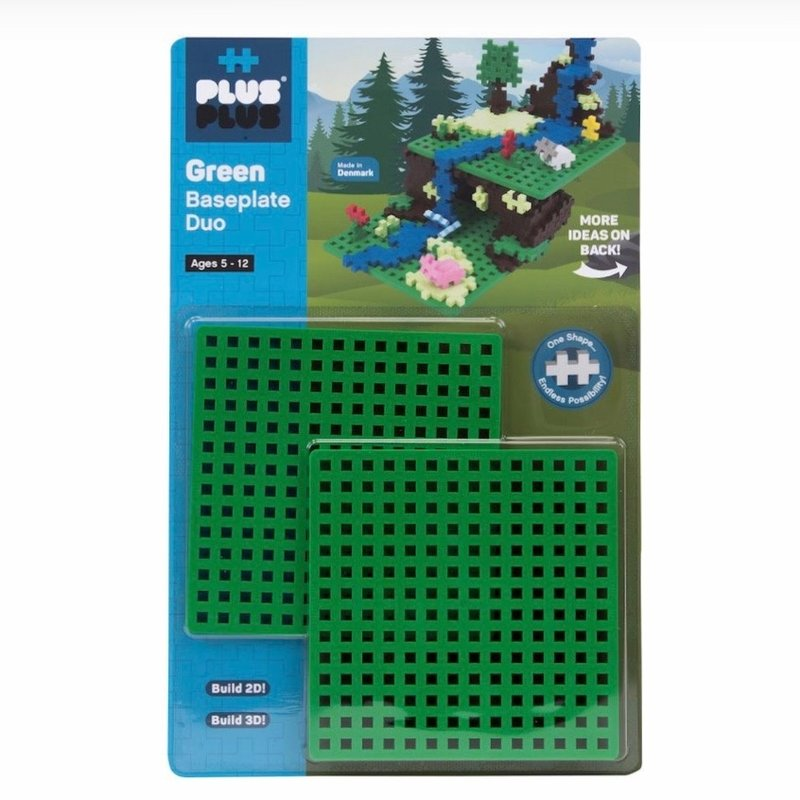 PLUS-PLUS BASEPLATE DUO- GREEN