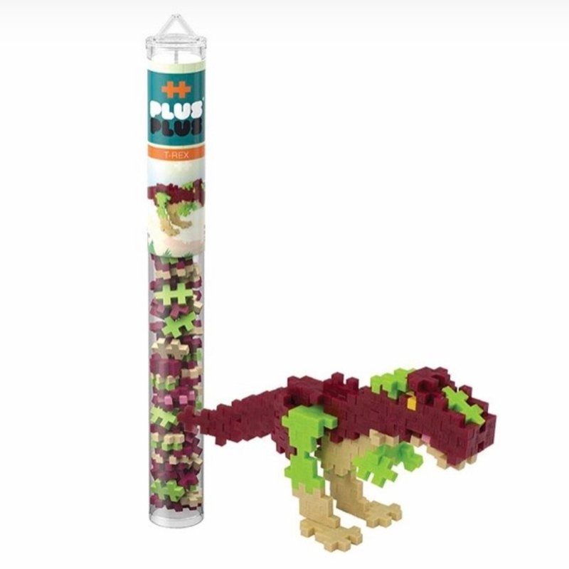PLUS-PLUS TUBE 70 PC- T-REX