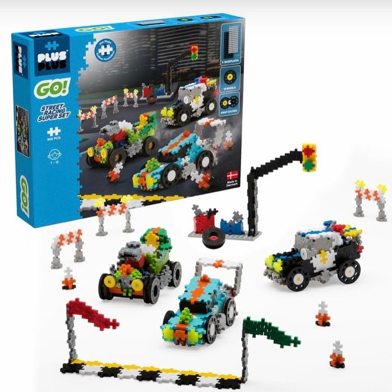 PLUS-PLUS STREET CAR RACING SUPER SET