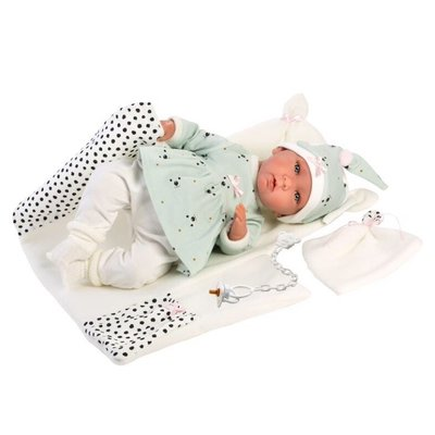 """LLORENS DOLLS FRANCESCA 16.5"""" CRYING SOFT BODY DOLL WITH BABY CHANGER"""
