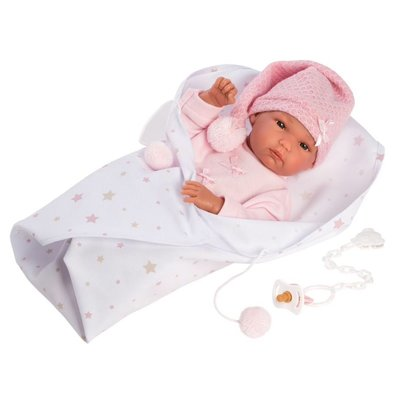 """LLORENS DOLLS KAYLEE 13.8"""" ANATOMICALLY CORRECT BABY DOLL WITH BLANKET"""