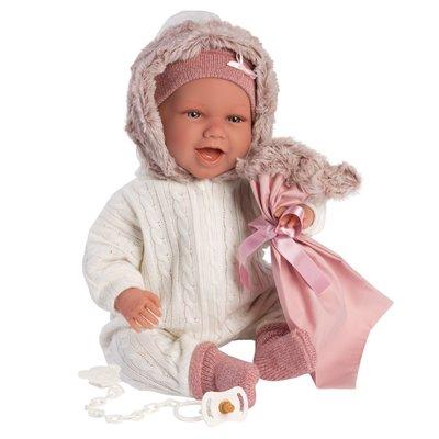 "LLORENS DOLLS LILA 16.5"" SOFT BODY BABY DOLL WITH CAR SEAT"