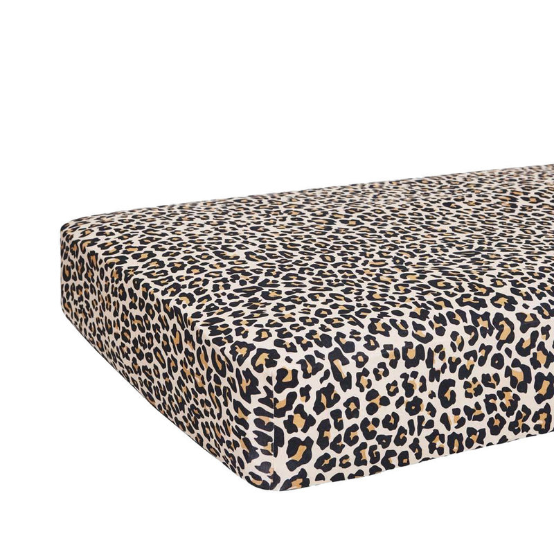POSH PEANUT LANA LEOPARD TAN - CRIB SHEET